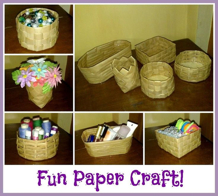 Diy paper baskets basket crafts paper basket and diy paper for Craft items from waste paper