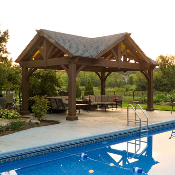3 Gable DIY Pavilion Integrated Power | Backyard pavilion ...