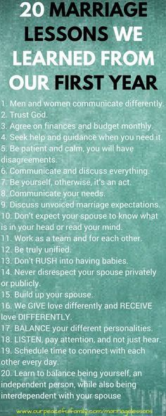 20 marriage lessons we learned from our first year,,