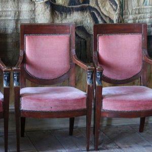 4 armchairs, Empire Italy, ca 1810