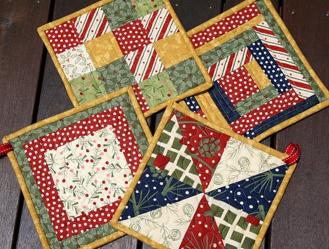 pot holders/mug rugs plus many more quilts and ideas