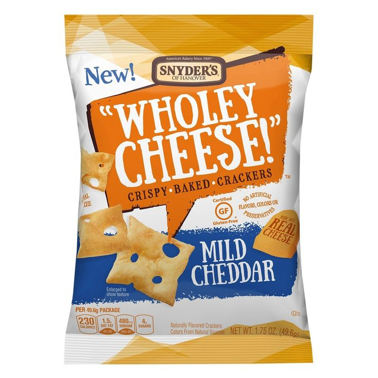 """Snyder's of Hanover """"Wholey Cheese!"""" Mild Cheddar Crispy Baked Crackers - 1.75oz"""