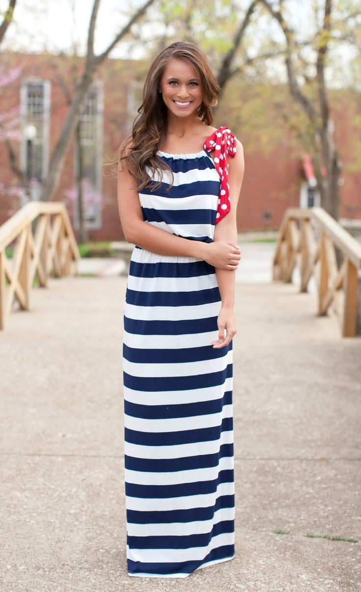Nautical Maxi Dress
