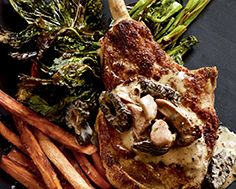 Veal Chops with Mushroom Powder & Mushroom Sauce