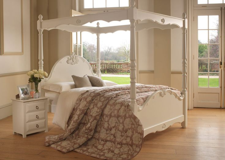 What you get with the Orleans four-poster is a bed that's rock-solid and stylish – the kind of quality that produces a bed that will last a lifetime. Handcrafted in Nottinghamshire, there is something inherently romantic about our Louis-style Orleans four poster bed, which is available in a number of hand painted and natural wood finishes. All Revival beds come with a 10 year guarantee, as well as free delivery and installation. Request a FREE brochure to find out more. #bedroomideas