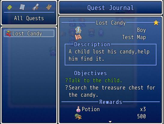 Rpg Maker Vx Ace Script: [VXA] Quest Journal 1.0.3 - Quest Scripts