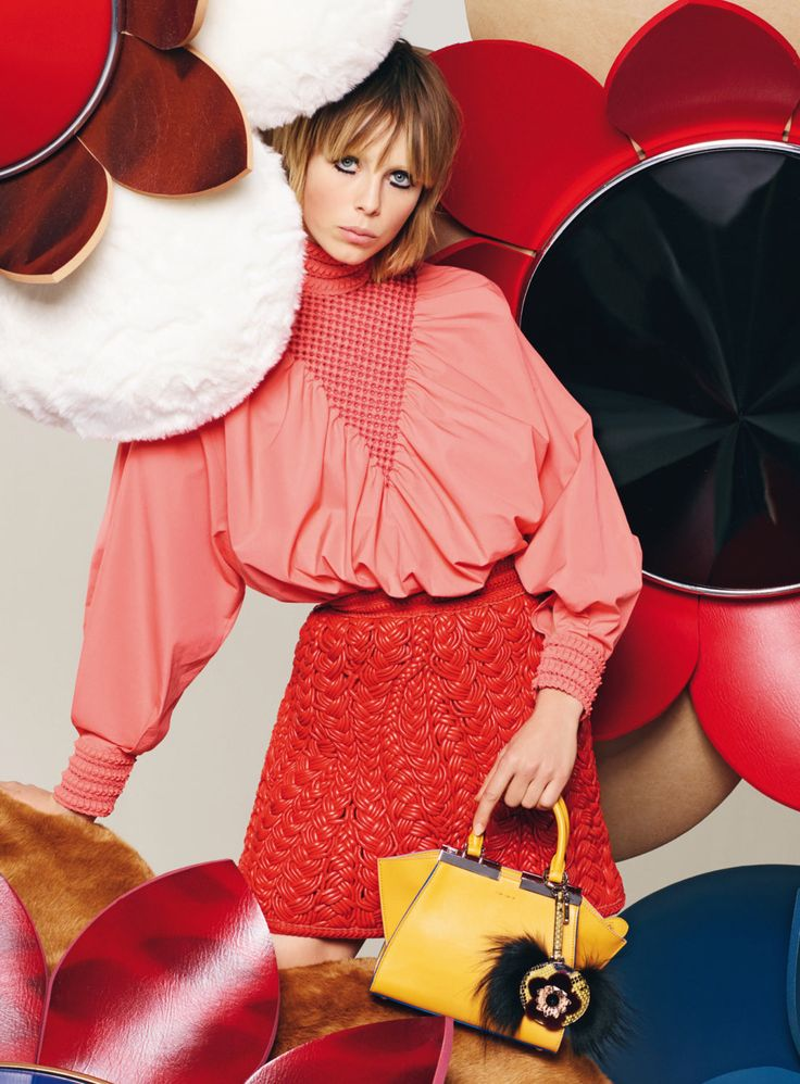 Edie Campbell by Karl Lagerfeld for Fendi S/S16 Campaign