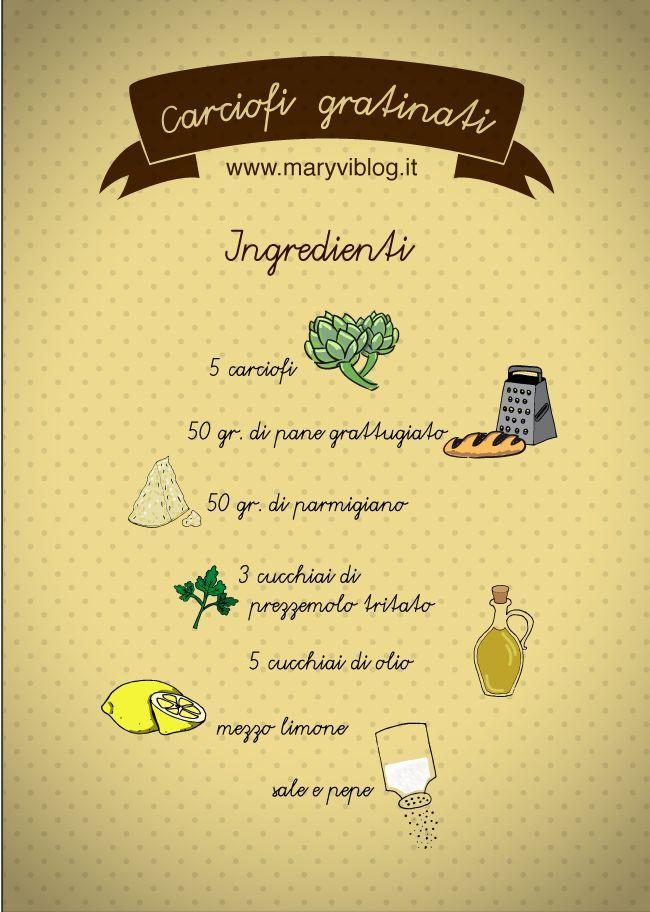 ricetta carciofi gratinati