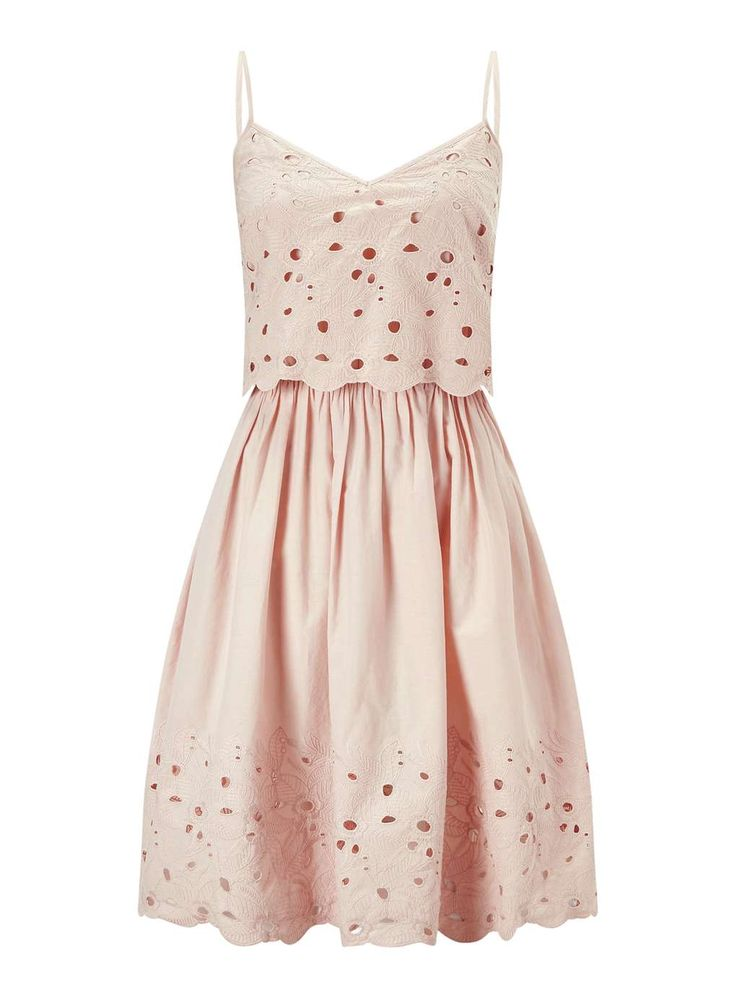 Beautiful broderie cut-out sun dress by Miss Selfridge
