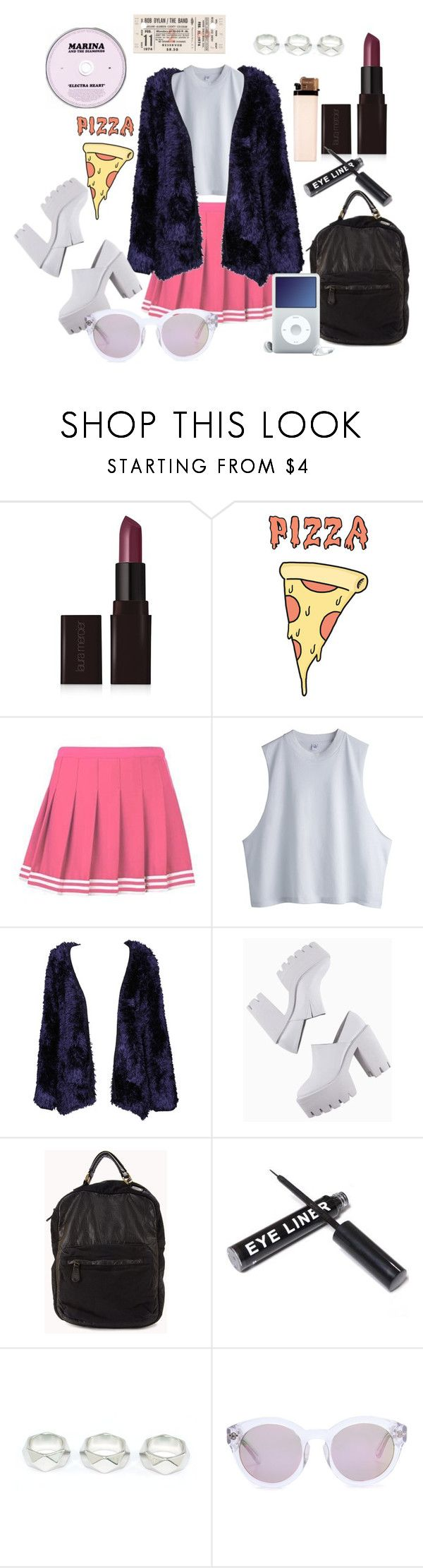 """""""Marina and the fabulous"""" by moonisnotaliarblog ❤ liked on Polyvore featuring Laura Mercier, Retrò, Evil Twin, Forever 21, Sony and Madewell"""