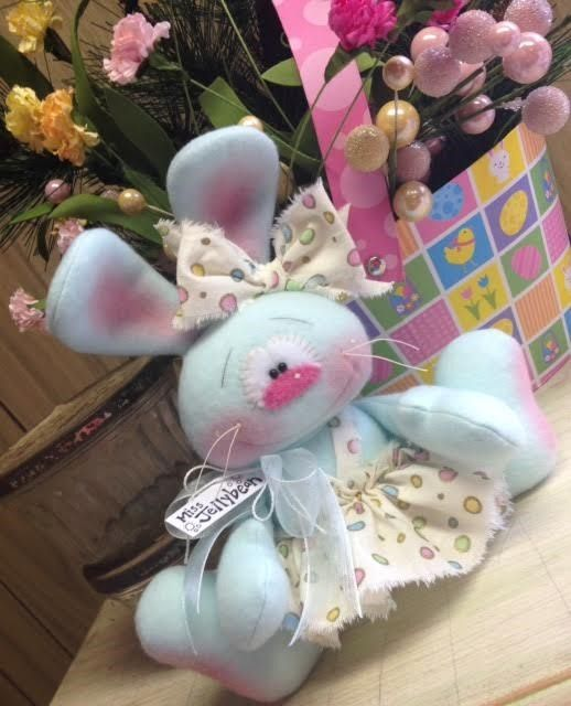 Primitive Raggedy HC Spring Easter Bunny Rabbit Doll Jellybean So Cute!!!! #IsntThatCute #Easter