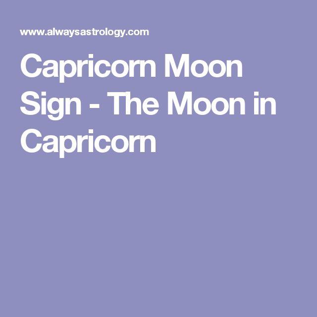 Capricorn Moon Sign - The Moon in Capricorn