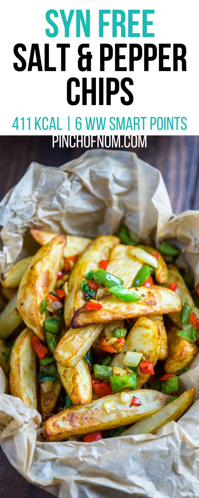 Syn Free Salt and Pepper Chips | Pinch Of Nom Slimming World Recipes 411 kcal | Syn Free | 6 Weight Watchers Smart Points