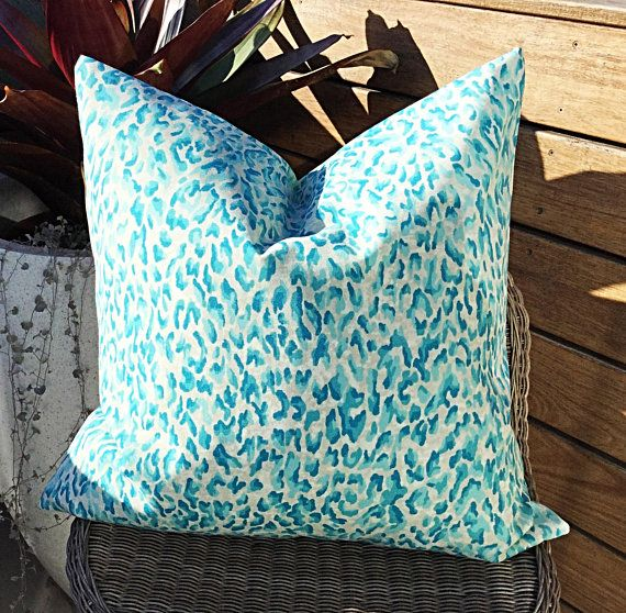 Leopard Print Outdoor Cushions Indoor Outdoor Cushion Cover Etsy Outdoor Cushion Covers Outdoor Cushions Tropical Pillows