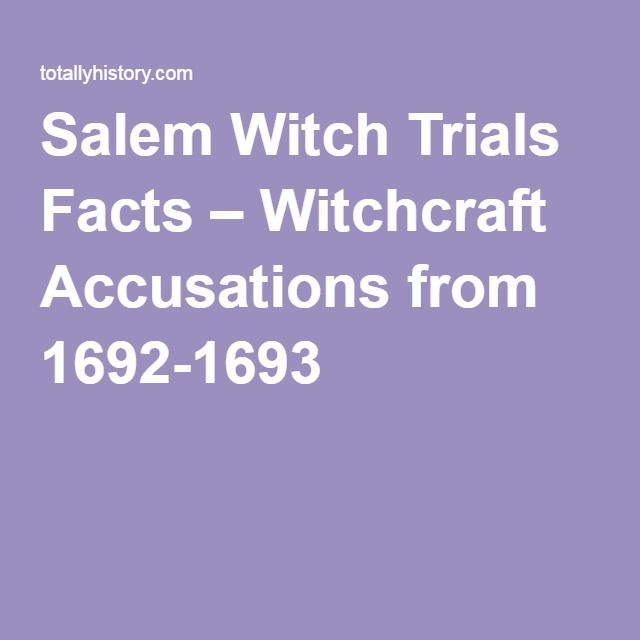 the details of the infamous salem witch trials of 1692 Despite being generally known as the salem witch trials,  the most infamous trials were conducted by the court of oyer and terminer in 1692 in salem town.
