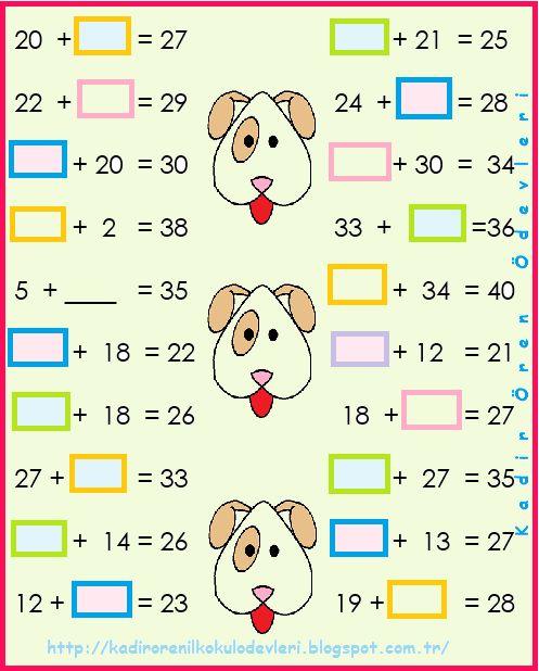 ilkokul ödevleri: 2. sınıf toplamada verilmeyen 2