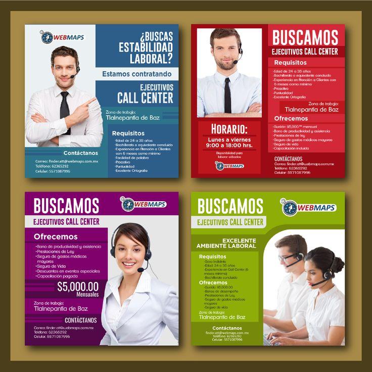 Diseño de Posts para reclutamiento de ejecutivo Call Center vía facebook. WebMaps