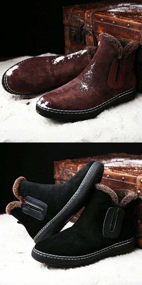 >> Buy here << Prelesty Casual Men Winter Boots Snow Boots for Men Ankle Boots Warm With Plush&Fur Work Safety Men Shoes Furry Hombre