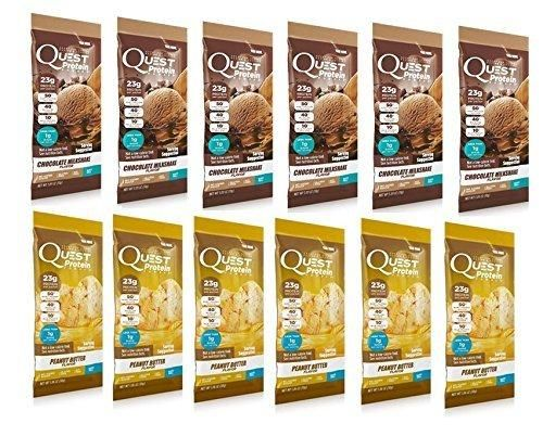 Quest Nutrition Protein Powder (12 Count) 6 Peanut Butter  6 Chocolate ...