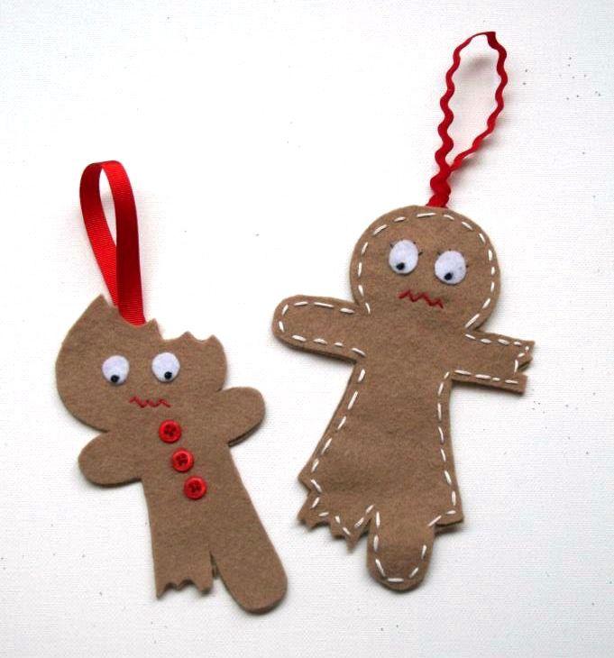 Bitten Gingerbread Cookie Ornaments