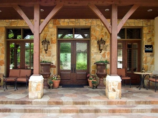 One of our Texas Hill Country front porches! ... | Home Ideas