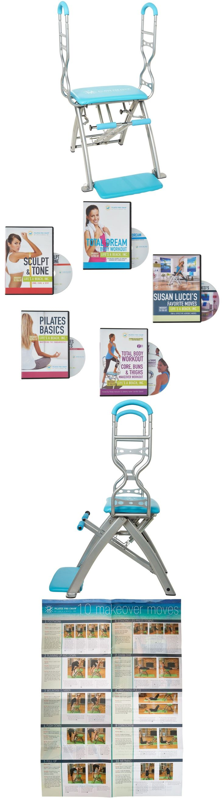 Pilates Tables 179807: Pilates Pro Chair Max With Sculpting Handles By Life S A Beach Six Workout Dvds -> BUY IT NOW ONLY: $359.98 on eBay!