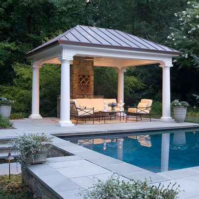 Free standing patio covers design ideas pictures remodel for Plans for gazebo with fireplace
