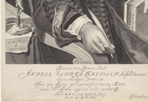 Portret van Andreas van der Kruyssen, Theodor Matham, 1663 - 1676 - Rijksmuseum