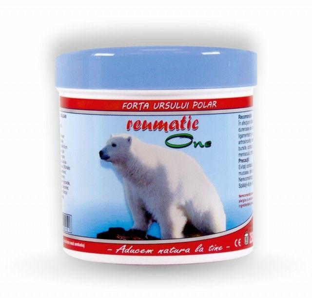 Balsam forta ursului polar Onedia reumatic - 250g  - recomandat pentru: reumatism, spondiloză, dureri articulare și osoase.