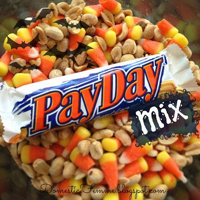 Favorite Fall Snacks: PayDay Mix It DOES taste like a Payday!  Have to watch the peanut to candy corn ratio in each bite, though.  {g.}