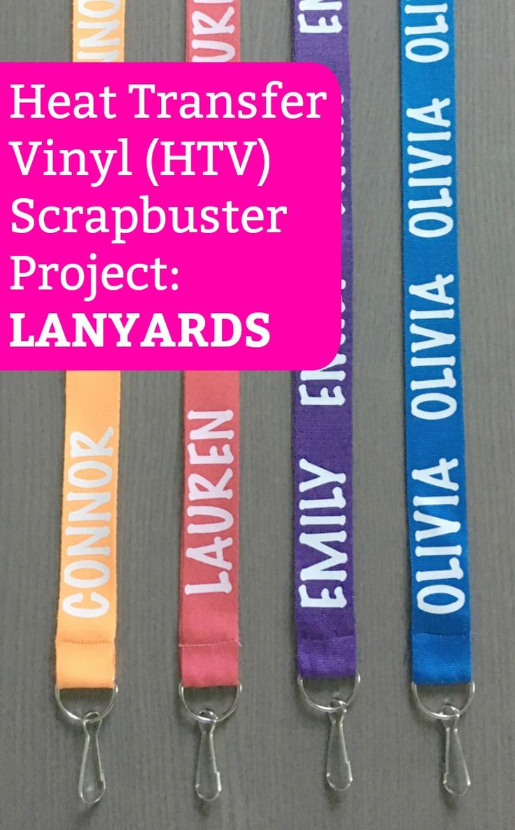 Scrapbuster Project: Heat Transfer Vinyl Lanyards with Silhouette Cameo or Cricut Explore - Plus, why they make a great craft show impulse item: http://cuttingforbusiness.com/2017/10/30/heat-transfer-vinyl-htv-lanyards/