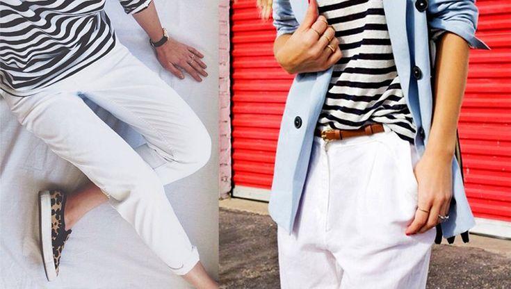 Pantaloni bianchi: 36 idee look e lo shopping lowcost per tutte!