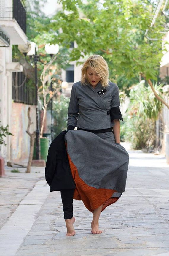 harem trousers with matching blouse by paraskeloufashion on Etsy