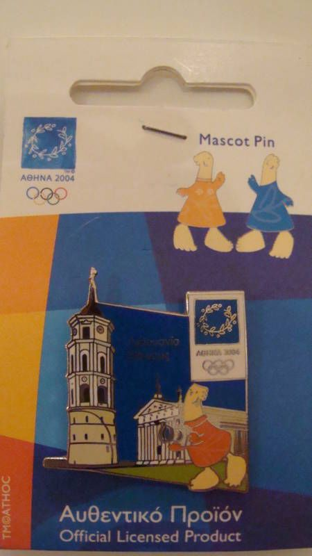 VILNIUS CAPITAL OF LITHUANIA - ATHENS 2004 OLYMPIC PIN