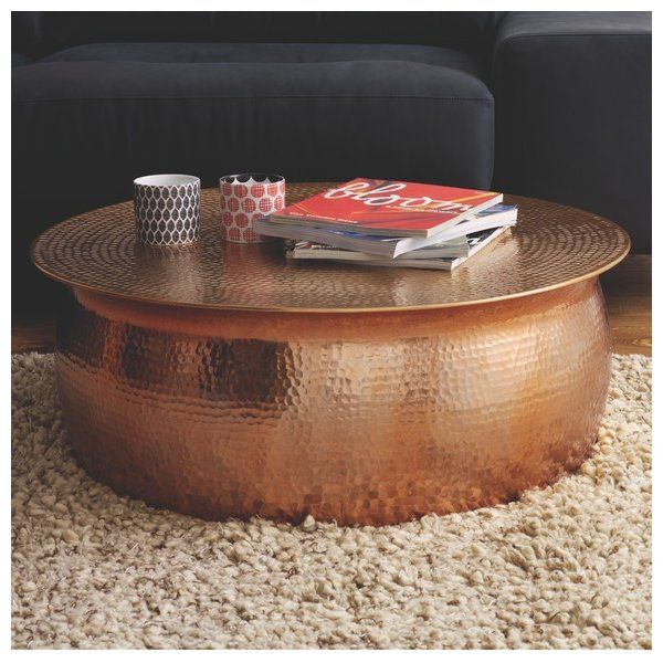 Beliveau Coffee Table Hammered Coffee Table Round Coffee Table