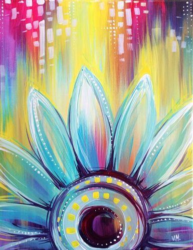 Whimsical Daisy at Bertucci's (Foggy Bottom DC) - Paint Nite Events near Washington, DC>