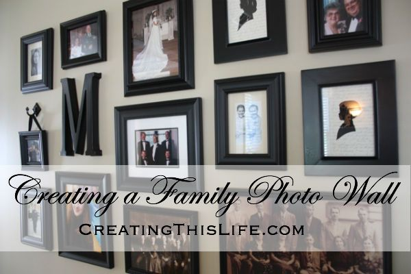 Creating a Family Photo Wall - Creating This Life