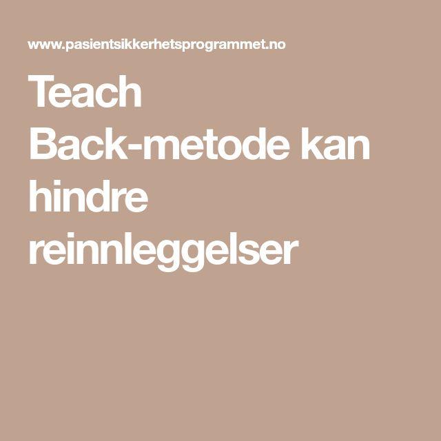 Teach Back-metode kan hindre reinnleggelser