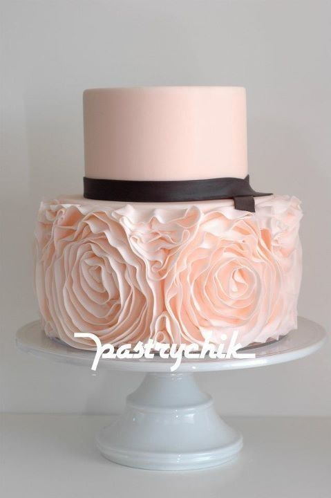 Ruffled Cake... Love the ruffles!: Cakes Ideas, Pink Ruffles, Pink Cakes, Dresses, Ruffle Cake, Ruffles Cakes, Wedding Cakes, Bridal Shower Cakes, Rose Cakes