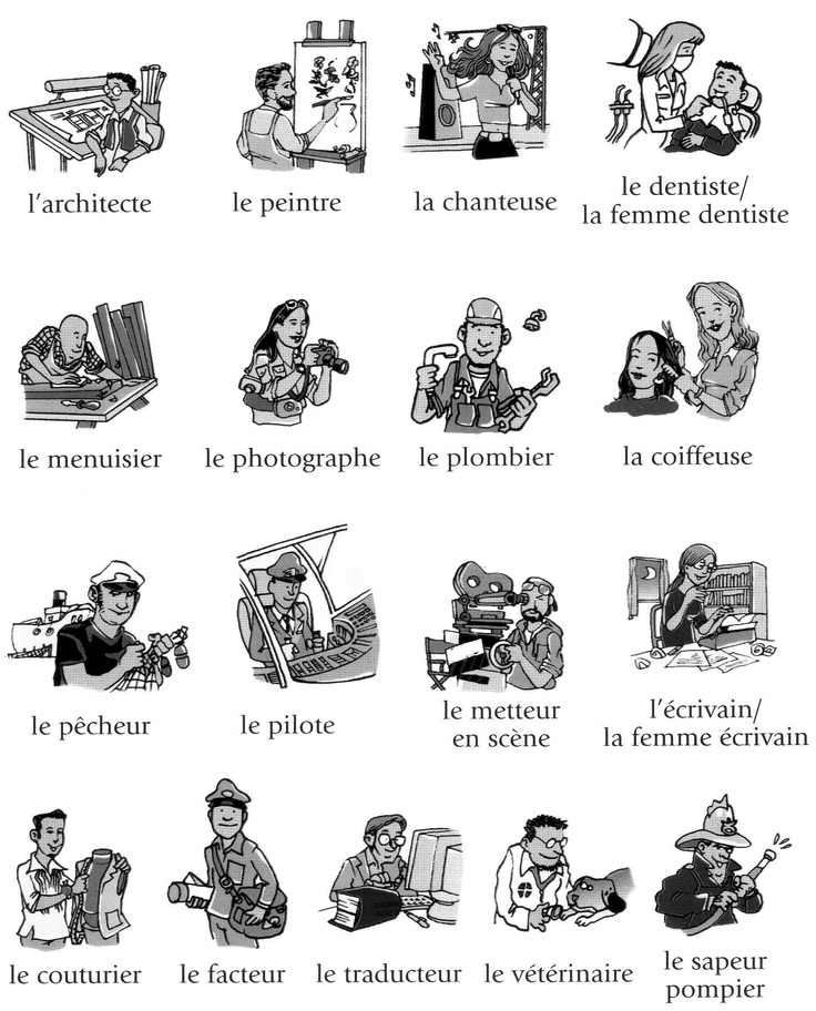 26 best images about French - Vocab (Professions) on Pinterest