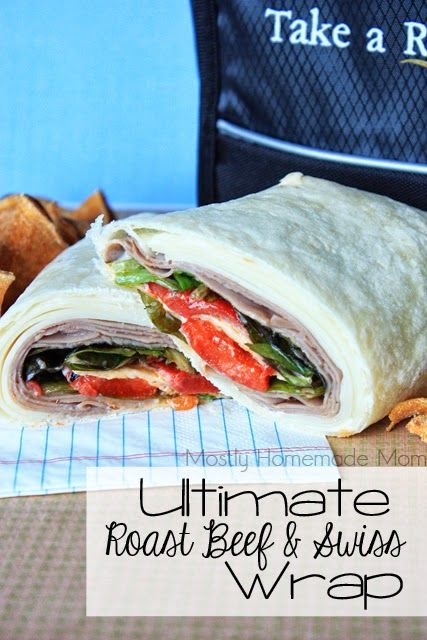 The ULTIMATE Roast Beef & Swiss Wrap! Ultra thin swiss cheese, roast beef, horsradish sauce, roasted red peppers, lettuce... get in my lunch box now! #SargentoCheese @Sarah King Cheese