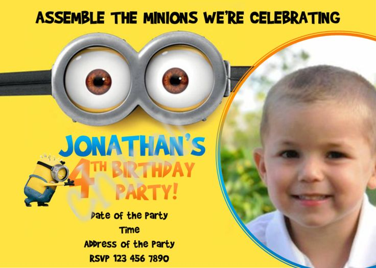 163 best party:minions images on pinterest | minion birthday, Birthday invitations