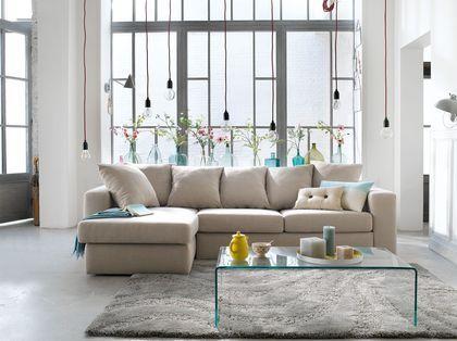 Un canapé d'angle au look élégant et décontract'