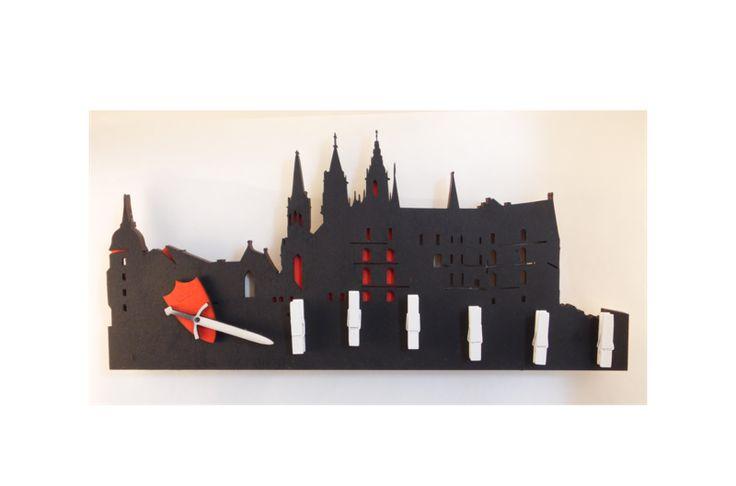 Wanduhren - heldensagen Albrechtsburg - Wanduhr&Schlüss... - ein Designerstück von heldensagen bei DaWanda
