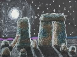 Stone Henge art idea pastel/chalks - Stone Age to Iron Age