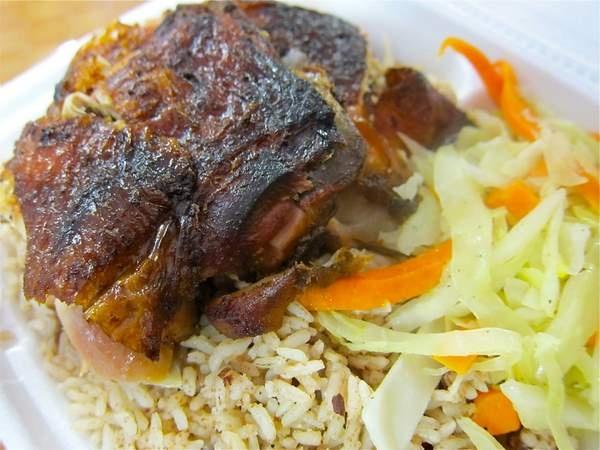 Jerk chicken at Dougie's Jamaican Cuisine in Canarsie, Brooklyn