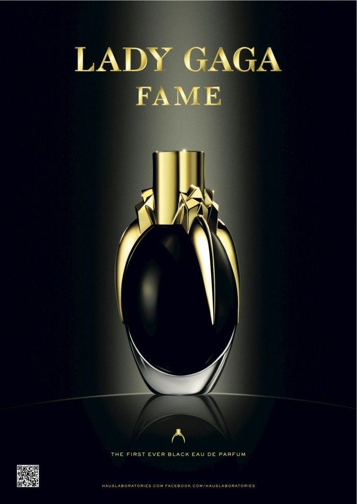 Fame: Perfume preto da Lady Gaga, fabricado com tecnologia ainda inédita, ele se torna transparente após pulverizado.