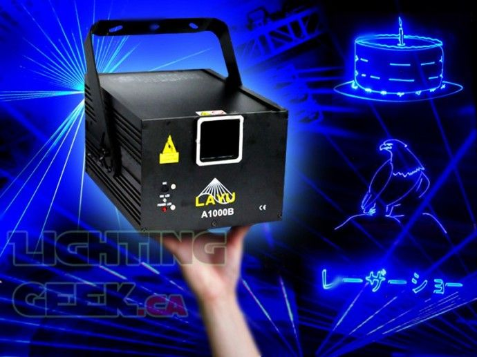 1000mW blue laser projector A1000B 25kpps  great for animation patterns