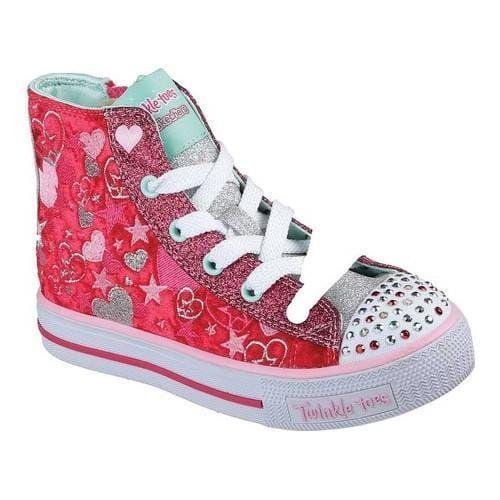 Girls' Skechers Twinkle Toes Shuffles Crush High Top /Multi