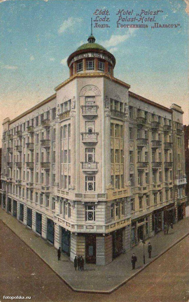 Hotel Polonia Palast, Łódź - 1913 rok, stare zdjęcia